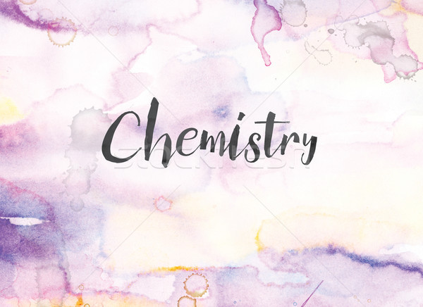 Chemistry Concept Watercolor and Ink Painting Stock photo © enterlinedesign