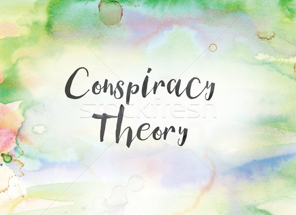 Conspiracy Theory Concept Watercolor and Ink Painting Stock photo © enterlinedesign