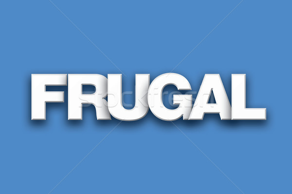 Frugal Theme Word Art on Colorful Background Stock photo © enterlinedesign