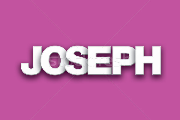 Joseph Theme Word Art on Colorful Background Stock photo © enterlinedesign