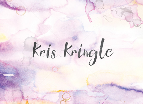 Kris Kringle Concept Watercolor and Ink Painting Stock photo © enterlinedesign