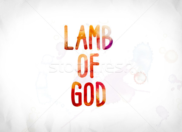 Lamb of God Concept Painted Watercolor Word Art Stock photo © enterlinedesign