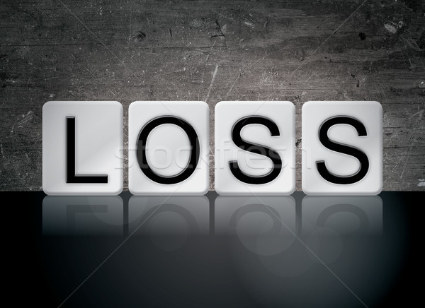 Stock photo: Loss Concept Tiled Word