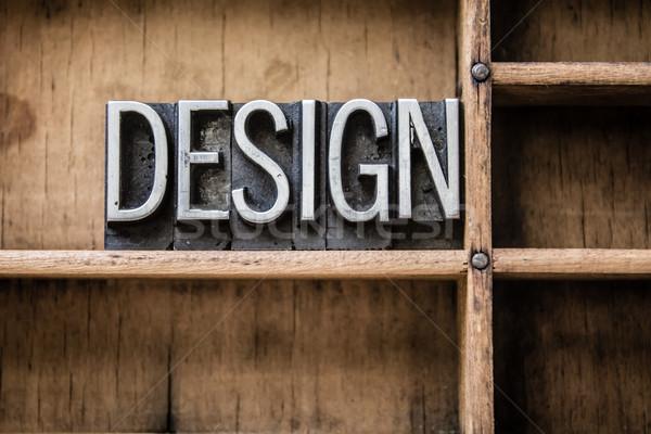 Design tipo cassetto parola scritto Foto d'archivio © enterlinedesign