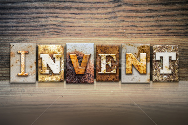 Invent Concept Letterpress Theme Stock photo © enterlinedesign