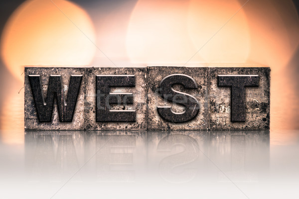 Zachód vintage typu słowo napisany Zdjęcia stock © enterlinedesign