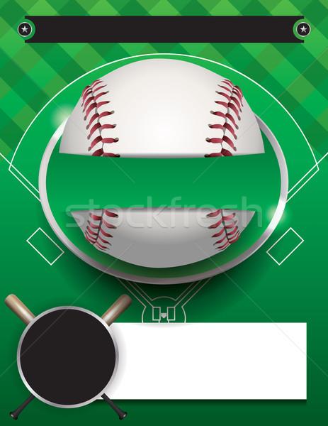 Vector béisbol torneo plantilla ilustración volante Foto stock © enterlinedesign
