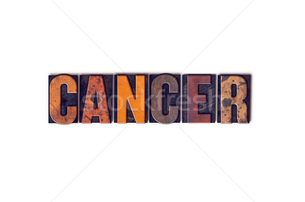 Cancer Concept Isolated Letterpress Type Stock photo © enterlinedesign