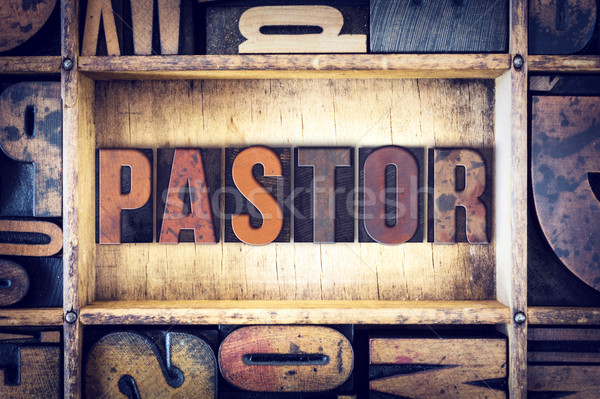 Pastor Concept Letterpress Type Stock photo © enterlinedesign