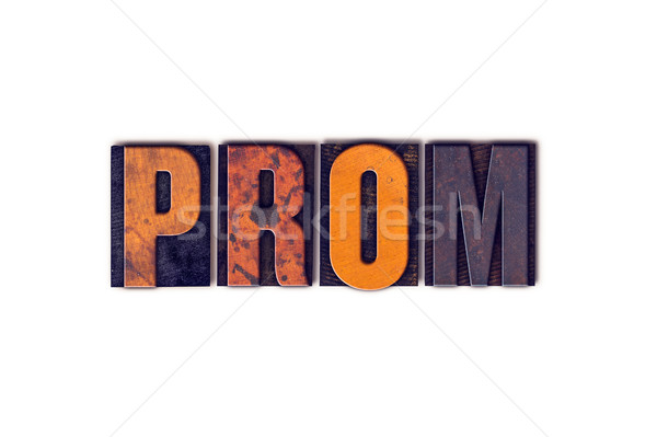 Prom isolado tipo palavra escrito Foto stock © enterlinedesign
