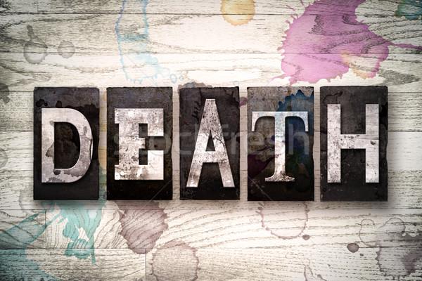 Dood metaal type woord geschreven Stockfoto © enterlinedesign