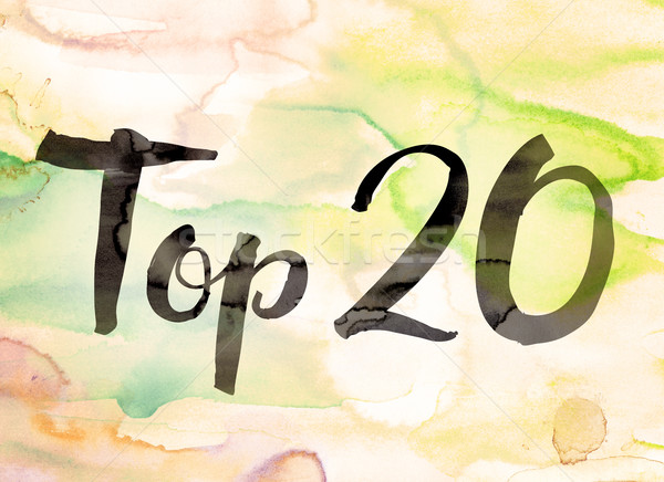 Top 20 Concept Watercolor Theme Stock photo © enterlinedesign