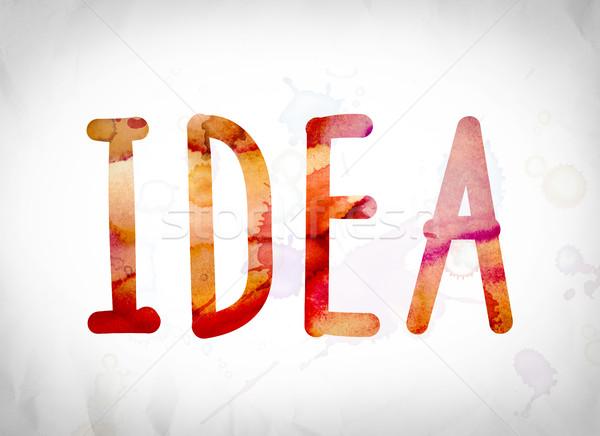 Idea Concept Watercolor Word Art Stock photo © enterlinedesign