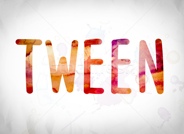 Tween Concept Watercolor Word Art Stock photo © enterlinedesign