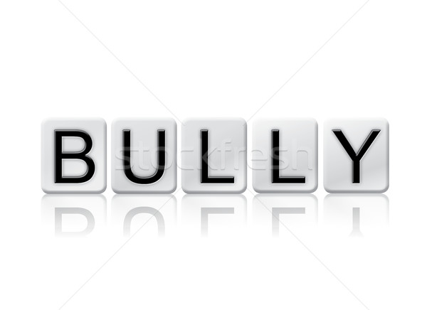 Bully Isolated Tiled Letters Concept and Theme Stock photo © enterlinedesign