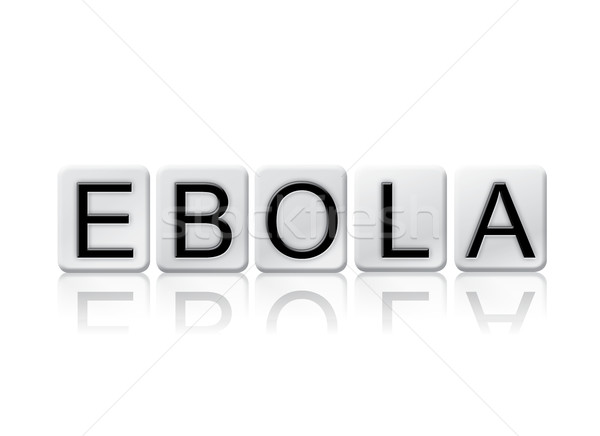 Ebola Isolated Tiled Letters Concept and Theme Stock photo © enterlinedesign