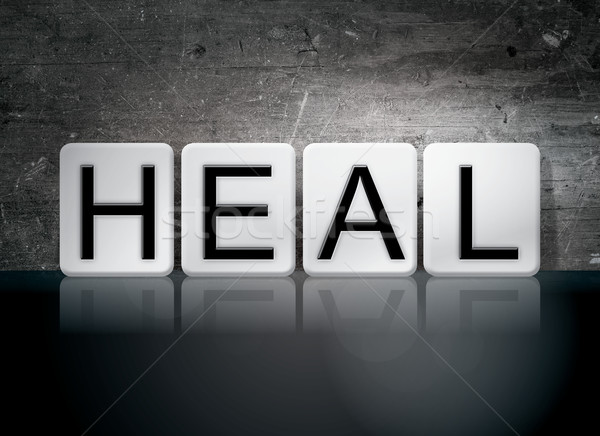 Heal Tiled Letters Concept and Theme Stock photo © enterlinedesign