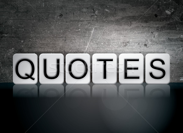 Quotes Tiled Letters Concept and Theme Stock photo © enterlinedesign
