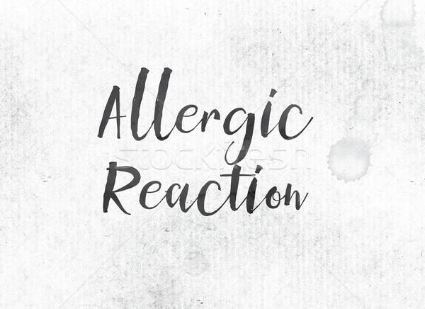 Alérgico pintado nosso palavra palavras preto Foto stock © enterlinedesign