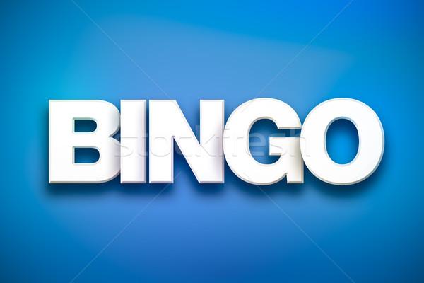 Bingo palavra arte colorido escrito branco Foto stock © enterlinedesign