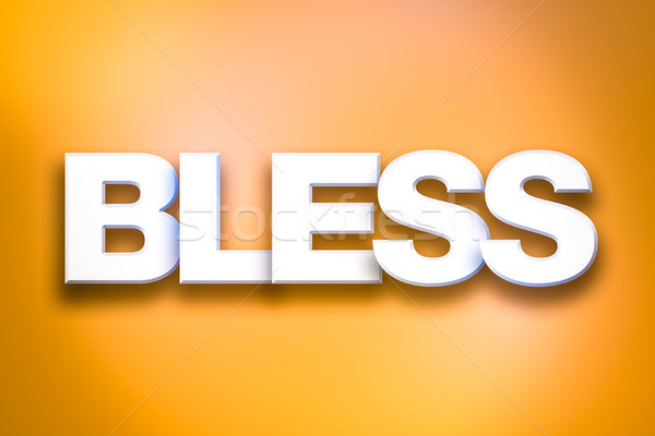 Bless Theme Word Art on Colorful Background Stock photo © enterlinedesign