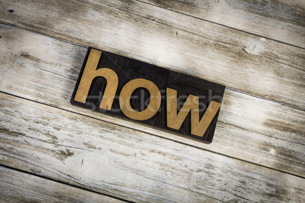 How Letterpress Word on Wooden Background Stock photo © enterlinedesign