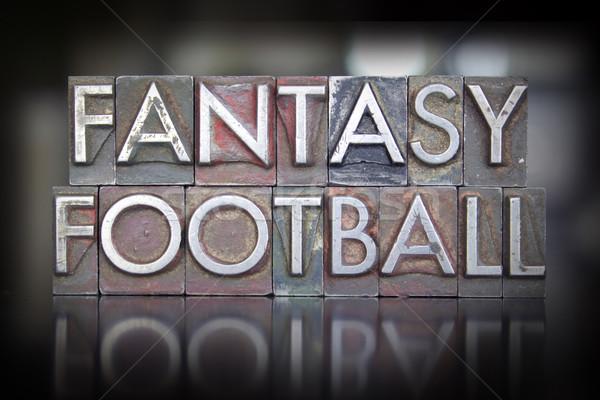 Fantasy Football Letterpress Stock photo © enterlinedesign