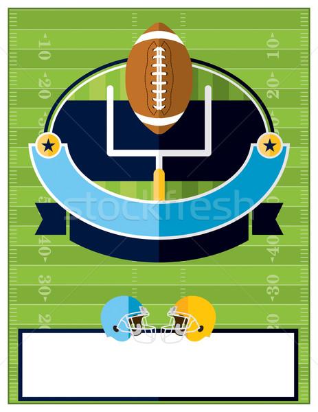 Amerykański piłka nożna ulotki ilustracja projektu zaproszenie Zdjęcia stock © enterlinedesign