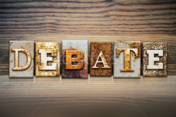Debate Concept Letterpress Theme Stock photo © enterlinedesign