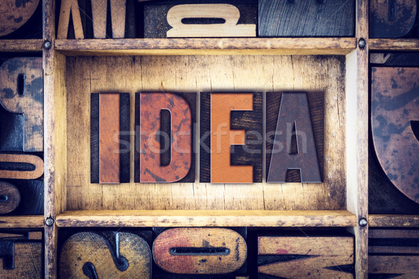 Idea Concept Letterpress Type Stock photo © enterlinedesign