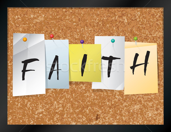 Faith Bulletin Board Theme Illustration Stock photo © enterlinedesign