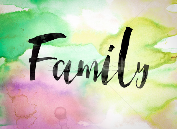 Stock photo: Family Concept Watercolor Theme