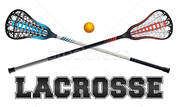 Lacrosse ontwerp illustratie woord bal vector Stockfoto © enterlinedesign
