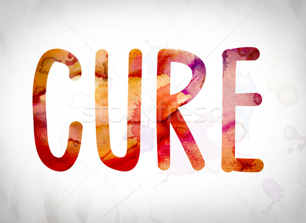 Cure Concept Watercolor Word Art Stock photo © enterlinedesign