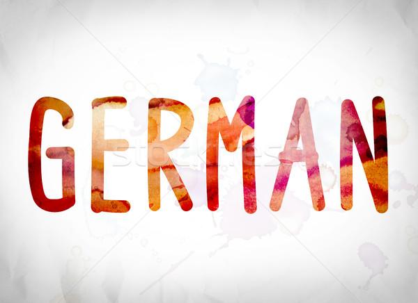 Stock photo: German Concept Watercolor Word Art