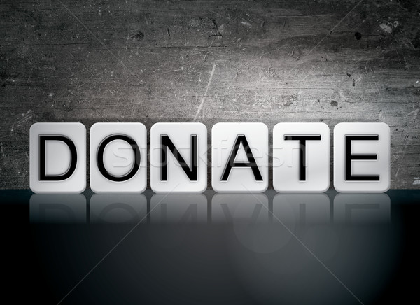 Donate Tiled Letters Concept and Theme Stock photo © enterlinedesign