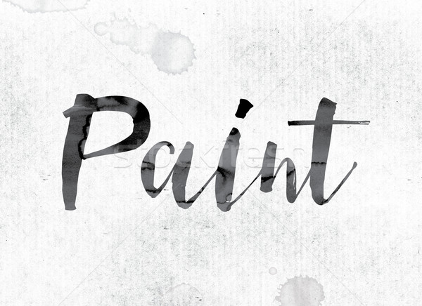 Paint Concept Painted in Ink Stock photo © enterlinedesign