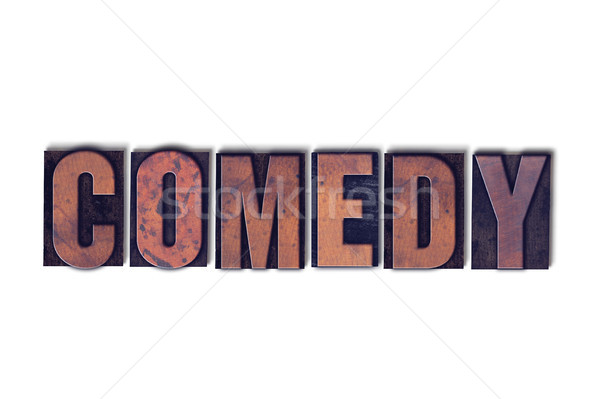 Comedy Concept Isolated Letterpress Word Stock photo © enterlinedesign