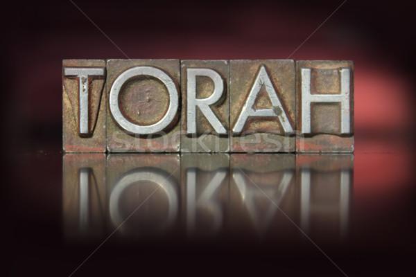 Torah Letterpress Stock photo © enterlinedesign