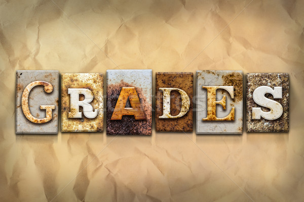 Grades Concept Rusted Metal Type Stock photo © enterlinedesign