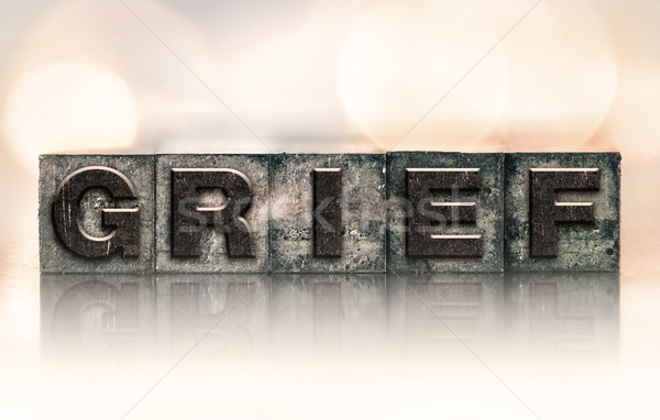 Grief Concept Vintage Letterpress Type Stock photo © enterlinedesign