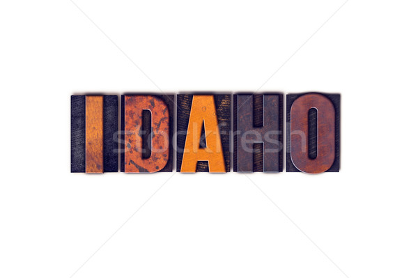 Idaho isolado tipo palavra escrito Foto stock © enterlinedesign