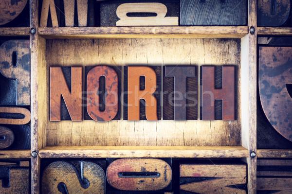 North Concept Letterpress Type Stock photo © enterlinedesign