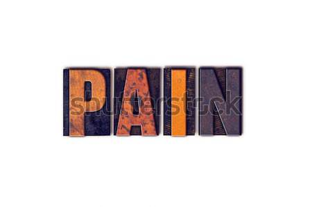 Paint Concept Isolated Letterpress Type Stock photo © enterlinedesign