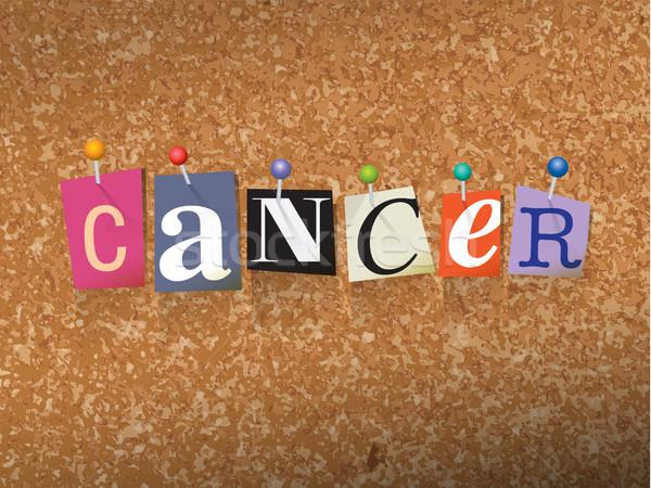 Cancro carta illustrazione parola scritto taglio Foto d'archivio © enterlinedesign