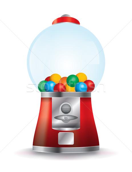 Bubble Gum Machine Illustration Stock photo © enterlinedesign
