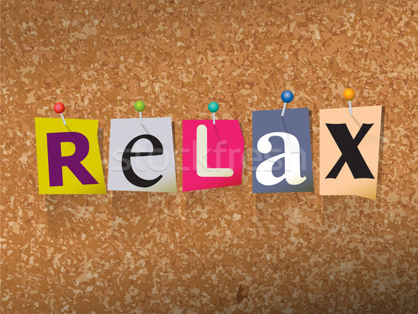 Relax Pinned Paper Concept Illustration Stock photo © enterlinedesign