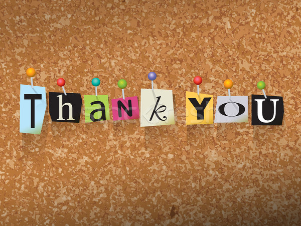 Thank You Pinned Paper Concept Illustration Stock photo © enterlinedesign