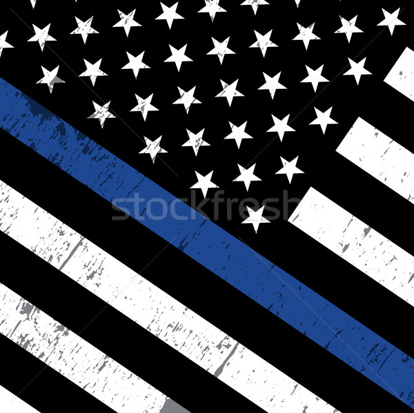 Police Support Flag Icon Illustration Stock photo © enterlinedesign
