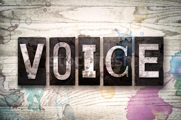Voice Concept Metal Letterpress Type Stock photo © enterlinedesign